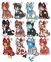 HUGE dog adopt batch 2/12 OPEN (ALMOST GONE) by H0wladopts