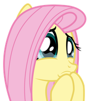 Fluttershy's About To Cry by masemj