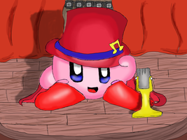 Stage Kirby by The-Hue-of-Stars