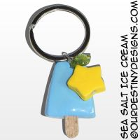 Sea Salt Ice Cream Key Chain (v2) by OurDestinyDesigns