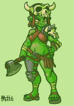 Cute Orcgirl by MuHut