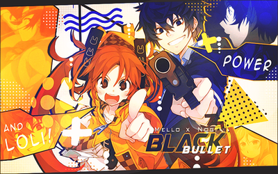 Collab Black Bullet with Mello ( with gif ) by bloodynekokira
