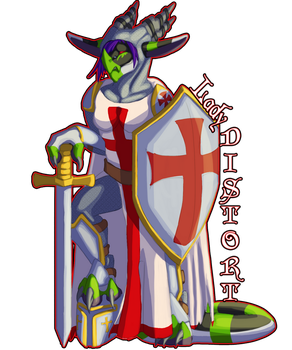 Distort Templar Badge by LadyDistort