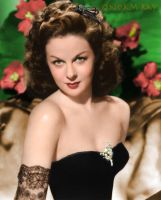 Susan Hayward - Colorized by NorthOne