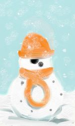 Snowdroid by Flynn-the-cat