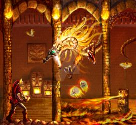 II. Temple of Fire by thelegendoflauri