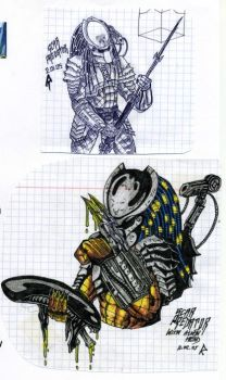 Yautja drawings part IX by cm023