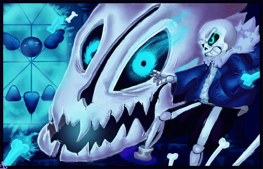 Strong Attack Comes First! - Sans (UNDERTALE) by RandomDigiArtist
