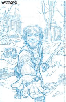 LK Clockworks 1 pencils by GabrielRodriguez