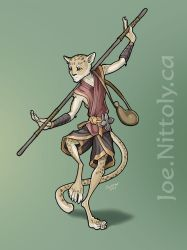 Swaying Palm Tree, Tabaxi Monk by Pasiphilo