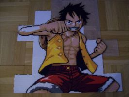 Monkey D. Luffy Bead Sprite 4. by TameFlame