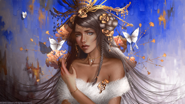 White Butterfly by Aoleev