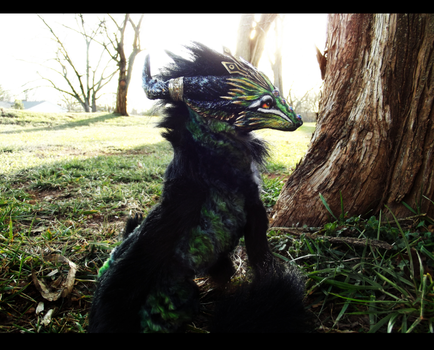 --Sold--Poseable Forest Guardian Wolf by Wood-Splitter-Lee