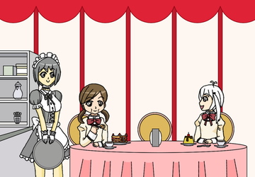 Down at the Maid Cafe by Hexidextrous