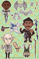 Dragon Age Mage Stickers by regeener