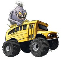 Monster Bus by Hyptosis