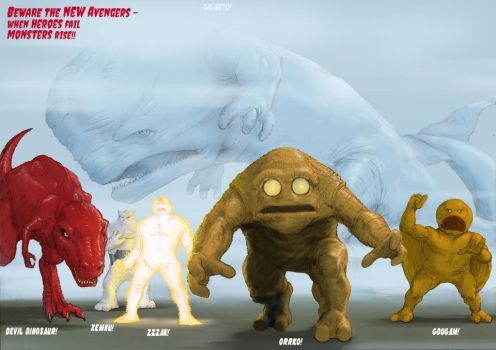 TLIID - New Avengers line-up - Monster crew! by Nick-Perks