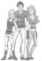 Tris and Uriah and Marlene by chrysalisgrey