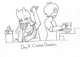 OTP-inkber Day 8: Crooked Domestic by bluestarproduction