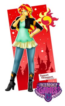 MLPFIM Postcard Sunset Shimmer by ILICarrieDoll