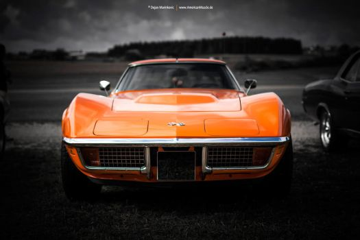 Orange Corvette C3 by AmericanMuscle