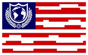 Buck Rogers Earth Directorate Flag by viperaviator