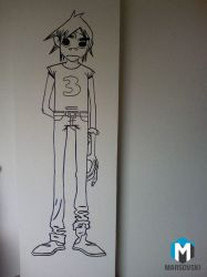 Wall paint - Gorillaz 2D by Marsovski