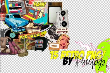 RETRO PNG PACK+ by Discopada