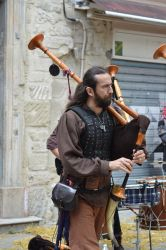 Medieval musician of french bagpipe 2 by A1Z2E3R