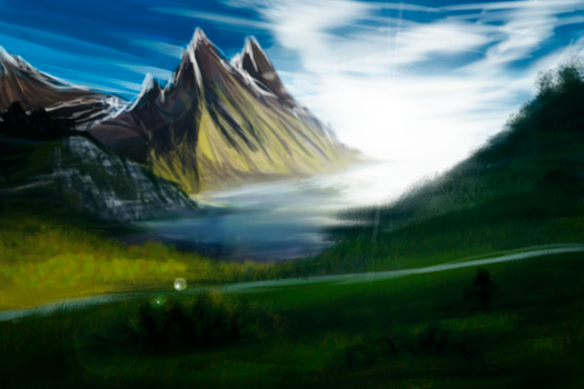 speedpaint/mountain bay by heart-reactor