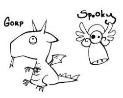 Gorp and Spooky by melukilan