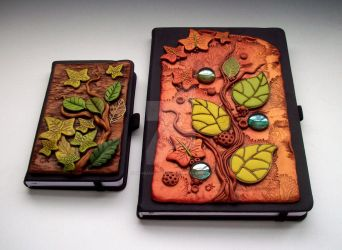 Autumn Leaves Journal Covers by MandarinMoon
