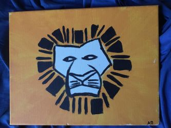 The Lion King musical logo, from an old friend by JacobDSArt