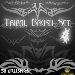 Tribal Brush Set 4 by narvils