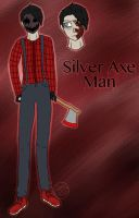 Cp Oc-Silver Axe Man by Pinkwolfly