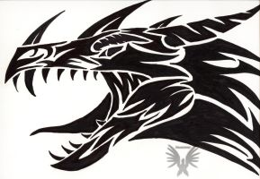 Tribal dragon by Virensere