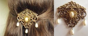Filigree Hair Piece by VictorianRedRose