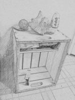 Crate with Conch Shell by WickedOffKiltah