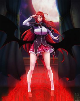 Highschool DxD's Rias Gremory - Crimson Princess by ghostfire