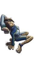 Uriko the Cat - Bloody Roar (char only render) by AnOtterOne
