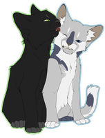 Hollyleaf and Jayfeather by TobyKitten