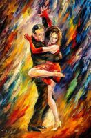 Sublime Tango by Leonid Afremov by Leonidafremov