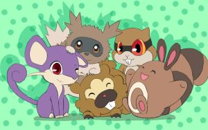 Pokemon Rodents by Zora-Moyashi