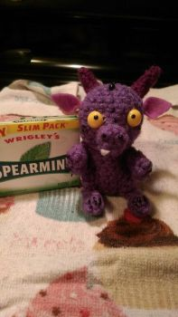 Tiny purple Dragon amigurumi by LittleNii
