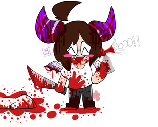 Goretober Day 4 - 'Horns' by NatCupcake