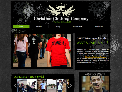 3c Christian Clothing Company Website by camarilladee