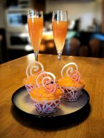 Pink Champagne Mimosa Cupcakes by theshaggyturtle