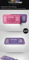 Small Event Ticket Mockup by idesignstudio