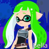 Bella the Inktoling (Inkling Version) by Brightsworth-Heroes