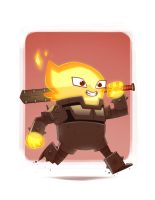Flame Knight by MichaelBills